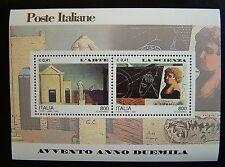 2000  Italia Dittico Avvento Arte e Scienza  2 x 800 lire   MNh**