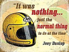 Joey Dunlop CASCO / preventivo Isle Man TT grandi acciaio segno 400mm x 300mm (OG)