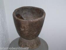 tres ancien réceptacle pilon bois africain african art objet usuel art africain