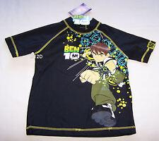 Ben 10 Alien Boys Black Printed Rash Vest Size 4 New