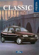 Ford Fiesta Classic 1995-96 UK Market Sales Brochure Quartz Cabaret