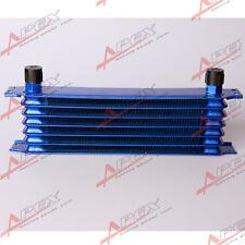 Universal Engine Transmission Oil Cooler 7 Row 10AN Blue Aluminum