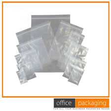 More details for grip seal  small plain clear re-sealable poly bags size 37 x 62mm 1.5