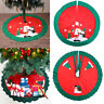Christmas Tree Skirts Snowman House Round Tree Skirts Aprons Red Stands Ornament