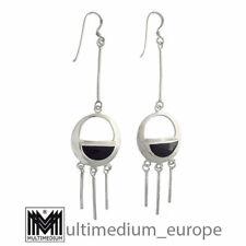Silber Ohrringe Onyx vintage 925 sterling silver earrings Art Deco 🌺🌺🌺🌺🌺