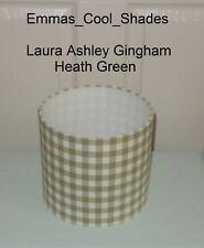 Handmade Small Lampshade Laura Ashley Gingham Heath Green Fabric 15cm Country