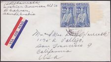 Portugal - 1946 - 1.75 Escudo Bright Blue Virgin Mary # 674 (2) on Cover to US