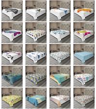 Ambesonne Fish Motif Flat Sheet Top Sheet Decorative Bedding 6 Sizes
