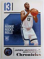 2018-19 Panini Chronicles Jaren Jackson Jr Rookie RC #42, Memphis Grizzlies