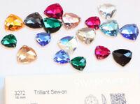 Original SWAROVSKI 3272 Trilliant Strass Steine zum Aufnähen * viel Farben