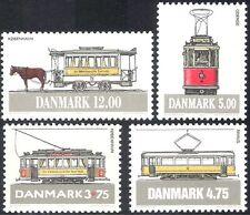 Denmark 1994 Trams/Horses/Public Transport/Buses/Motoring 4v set (n33356)