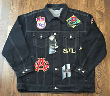 Negro Leagues Museum Denim Jacket XXL Baseball NWT Crawfords Black Yankees
