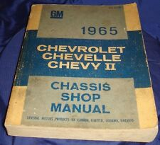 BH750 1965 65 Chevrolet Chevy Chev Chevelle Chevy II 2 Chassis Shop Manual