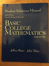 Basic College Mathematics Student Solution Manual 3RD EDITION (Paperback)