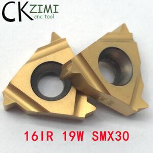 10Pcs 16IR 19W SMX30 TPI:19 CNC Internal Threading Insert,For Steel,SEL / SNR