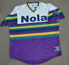 NWT New Orleans Baby Cakes Mardi Gras Specialty Baseball Jersey XL