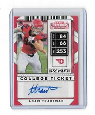 2020 Panini Contenders Adam Trautman College Ticket Rookie Auto Saints Autograph