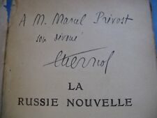 EDOUARD HERRIOT La RUSSIE NOUVELLE 1922 ENVOI signé à MARCEL PREVOST COMMUNISME