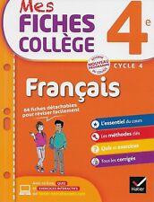 MES FICHES COLLEGE 4e / MATHS ET FRANCAIS - 63 + 64 FICHES DETACHABLES - NEUFS !
