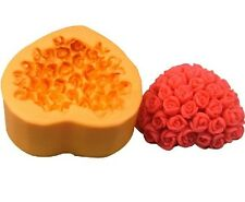 Valentine Heart Rose Silicone Soap DIY Mold Handmade Soap Candle Craft art Mould