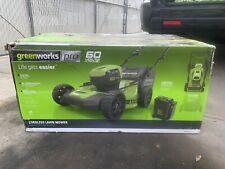 New, Greenworks Pro 60V Lithium Ion Push 21
