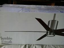 "Minka Aire F828-BN/WH Symbio Nickel/White 56"" Ceiling Fan W/Light & Remote"