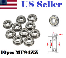 10pcs MF84ZZ LF840ZZ Shielded Flanged Model Ball Flange Bearing 4 x 8 x 3mm