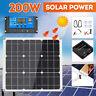 12V 30W 100W 200W Solar Panel Mono Caravan Camping Home Battery Charging Power