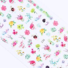 Adhesive 3D Nail Sticker Fresh Flower Nail Art Sticker Decal Manicure Decor
