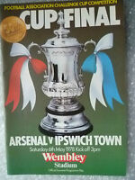 1978 FA Cup FINAL Programme Arsenal v Ipswich Town, 6 May (VG,Genuine*)