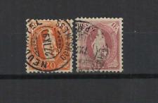 SUISSE Helvetia 1882-1904 2 timbres oblitérés  /T3442