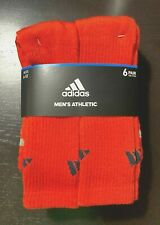 adidas Orange Original 6 pack Men's 3-Stripe Socks, 1.99 Shipping