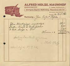 NAUNHOF b. Leipzig, Rechnung 1940, Schneider-Meister Alfred Holze