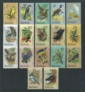 Barbados 1979, Birds - Initial Definitive Issue of 17 sg622/38 MNH