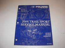 2004 Polaris Trail Sport 340 500 Edge Snowmobile Service Manual w CD ,#  9918582