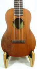 Solid Mahogany wood Soprano Ukulele, hula girl, hard case, U2435