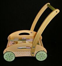 Baby walker with bricks pastel colours