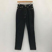 VERSACE Black Straight Leg Classic Jeans Chic Ladies UK Size 29 37344