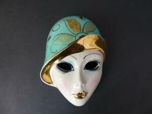 Vintage Italian Art Deco Style Wall Mask