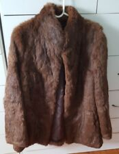 Like New STUNNING Soft Fur Coat Chocolate Bown Size 10 12