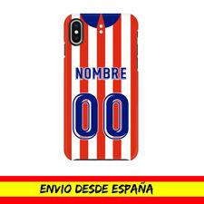 Funda Movil Apple Iphone Camiseta Futbol Compatible con Atletico Nombre Numero 2