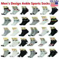 Wholesale Assorted Colors Men's Ankle Quarter Sport Cotton Socks Size 9-11 10-13