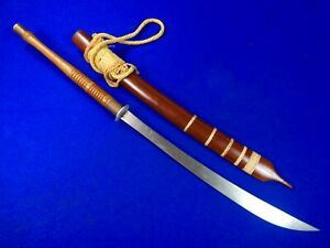 Vintage Antique Old Indonesian Indonesia Dao Sword w/ Scabbard