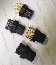 Set di 4 SPAZZOLE COMPATIBILI CON X5 H20 a Vapore SPUGNA (2 x metallo 2 x NYLON)