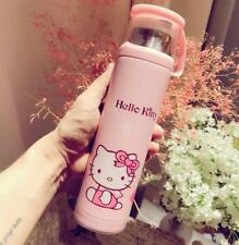 New Cute For Hello Kitty Stainless Steel Vacuum Warm Travel Mug Tea Cup 450ml