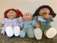 VINTAGE  LOT OF 3 COLECO CABBAGE PATCH DOLLS