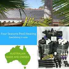 DIY POOL/SPA SOLAR HEATING 12 TUBE 38M2 - AUSTRALIAN MADE WITH PUMP & CONTROLLER