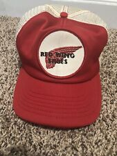 RARE Vtg 80's Red Wing Shoes Patch Trucker Hat Mesh Cap USA Two-Tone Snapback
