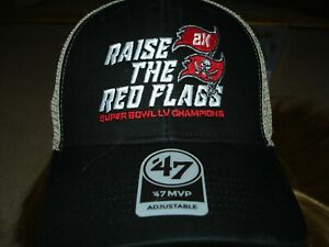 NEW Raise The Red Flag Super Bowl Champions Buccaneers Hat '47 MVP Snapback fit