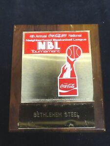 4th Annual Coca Cola NBL Tournament Plaque - Bethlehem Steel - 1974 - Lasalle